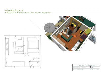 planche technique pour la décoration du projet d'aménagement d'une maison individuelle par la déco d'élise