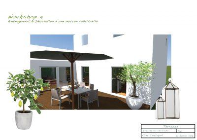 planche d'ambiance pour la décoration du projet d'aménagement de la terrasse du père par la déco d'élise