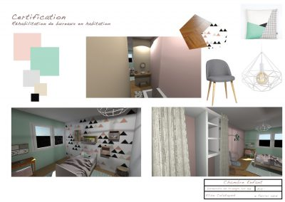 agencement d'intérieur pour une chambre d'enfants par la déco d'élise