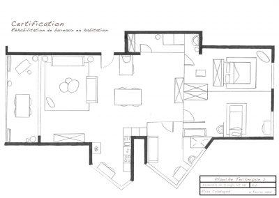 plan 2D du futur appartement-la déco d'élise