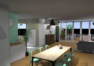 salon après réhabilitation des bureaux en appartement par la déco d'élise